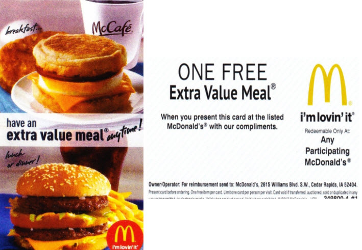 Free McDonald's® Extra Value Meal™ Buy an $8 or $15 hi! SIM Card or a minimum $20 Data Plan to enjoy a Free McDonald's® Filet-O-Fish® or McChicken® Extra Value Meal™ Free McDonald's® meal consists of a Filet-O-Fish® or McChicken® burger, French Fries(M) and Coca-Cola®(S).